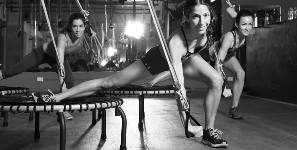 Trampolin im Fitnessstudio
